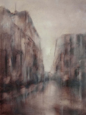 Aqua Alta-Venice IV. oil on linen. 38 x 28 cm