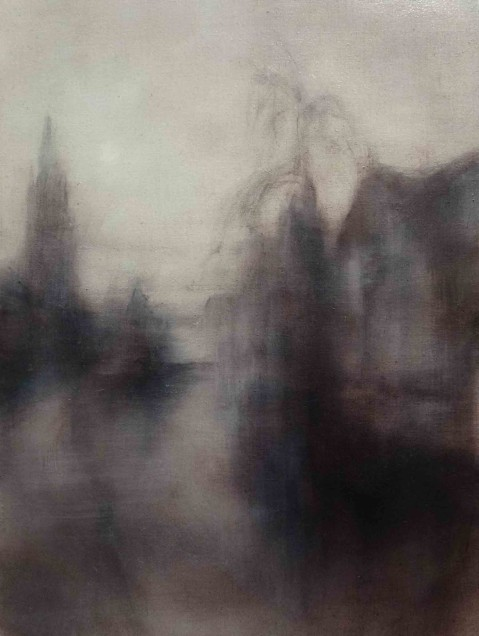 Twilight - Bruges V Oil on Linen38 x 28 cm