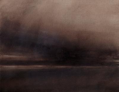 Twilight Rd M25_II Oil on Polyester 32x41.5cm