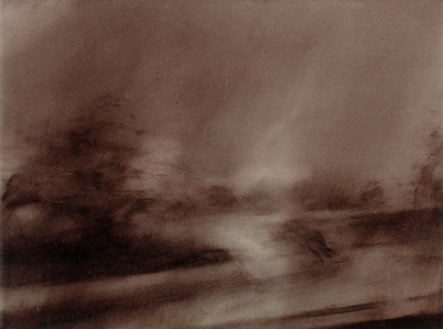 Twilight Rd to Bregenz V Oil on Polyester 29x38cm