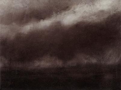 Twilight Rd to Bregenz III Oil on Polyester 29x38cm