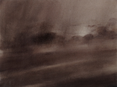 Twilight Rd to Bregenz IV Oil on Polyester 29x38cm