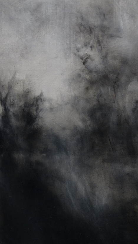 Twilight - Bruges IX Oil on linen 40 x 23 cm